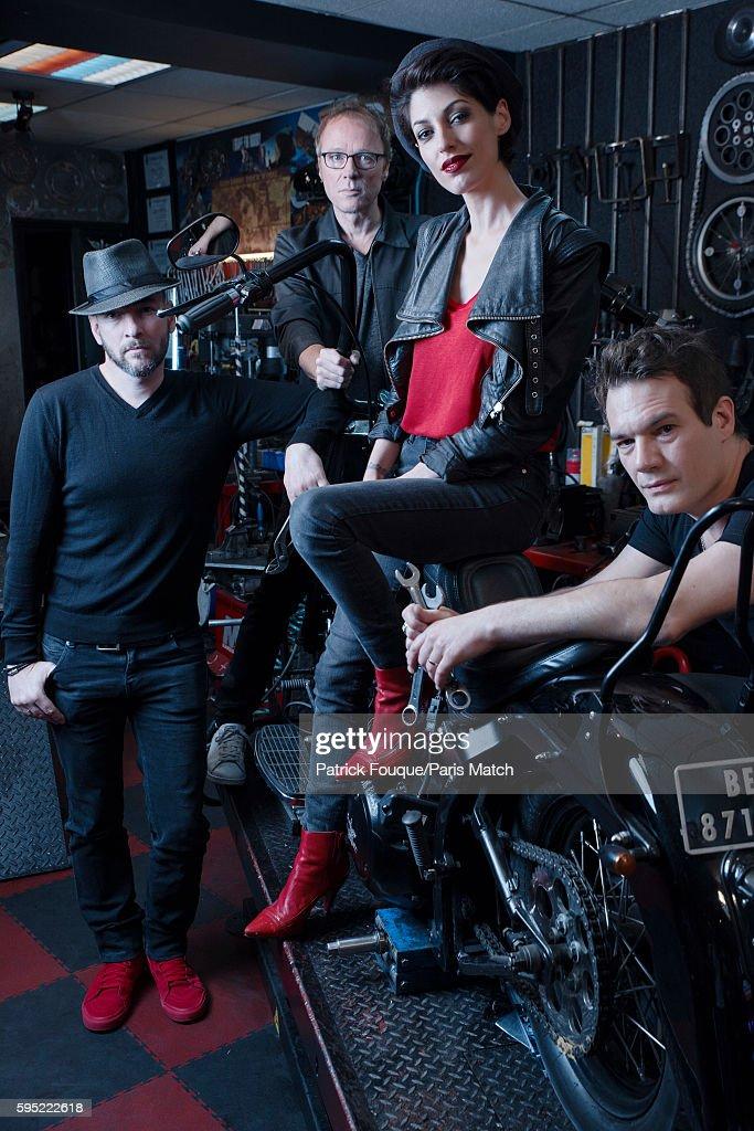 Pop/rock band Superbus are photographed for Paris Match on June 14, 2016 in Paris, France.