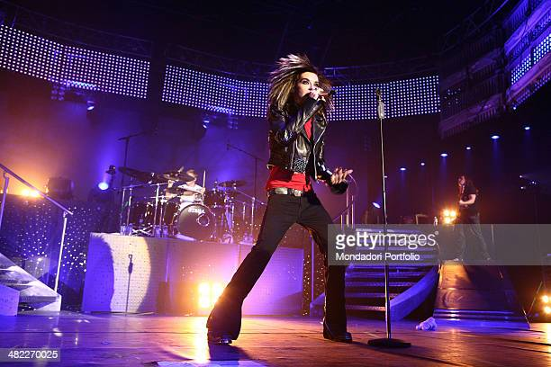 Poprock band Tokio Hotel raised to international prominence in 2007 with the album Scream performs at the Zenith Sud arena at the backs of Bill...
