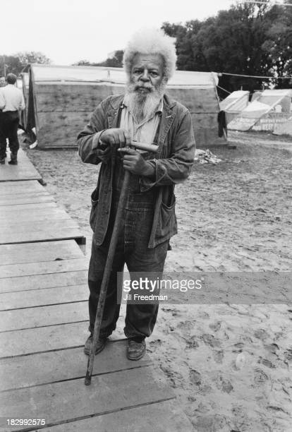 'Pops' Donaldson a retired merchant navy sailor from Tennessee poses for the camera in Resurrection City a three thousand person tent city on the...