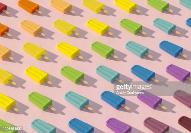 popsicle pattern - colors of rainbow in order stock pictures, royalty-free photos & images