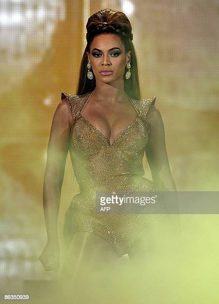 Popstar Beyonce performs on May 2, 2009 in Rotterdam. AFP PHOTO/ ROBERT VOS
