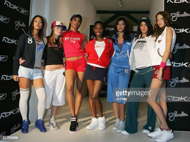 Popstar Jamelia is unveiled as the 2005 face of Reebok's streetinfluenced fashion and sportswear brand Rbk at the Elms Lester Painting Rooms on...