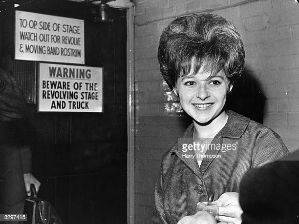 Popular American singer Brenda Lee 'Little Miss Dynamite' backstage at the London Palladium October 1964
