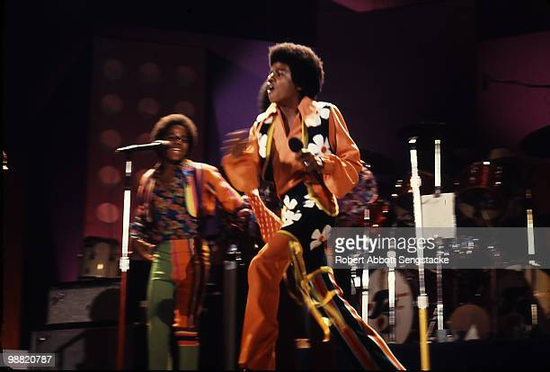 Popular American singing group The Jackson Five perform on stage at the International Ampitheatre as part of the Push Expo Chicago Illinois September...