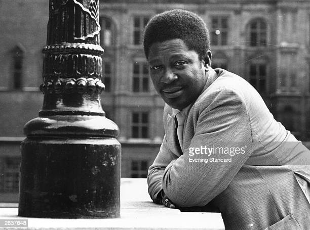 Popular and legendary blues singer songwriter and guitarist B B King second cousin of Bukka White