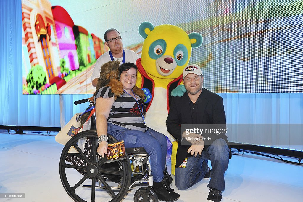 D23 EXPO - Popular character Special Agent Oso and the voice of Oso, Sean Astin from Disney Junior's 'Special Agent Oso,' meets fans at Disney's D23 Expo, the ultimate event for Disney fans at the Anaheim Convention Center in Anaheim, California (August 21). (Photo by Michael Yada/Disney Channel via Getty Images)SPECIAL