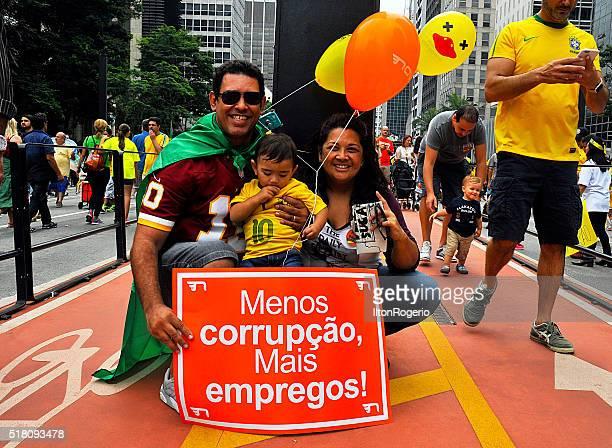 Popular manifestação contra a corrupção, dia 13 de março de 2016