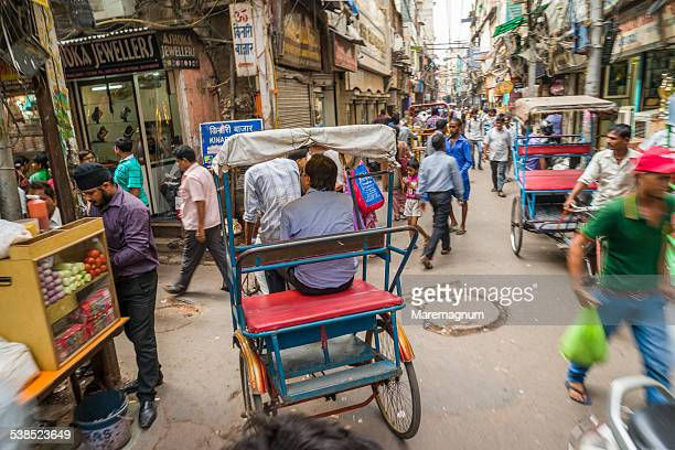 popular district around jama masjid mosque - delhi stock pictures, royalty-free photos & images