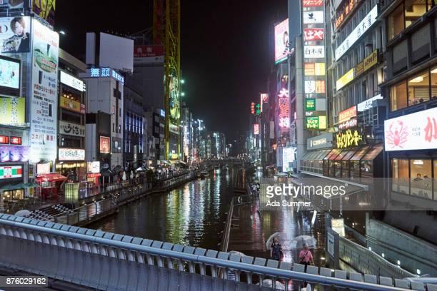 Popular Dotonbori Canal in Namba ,Osaka, Japan