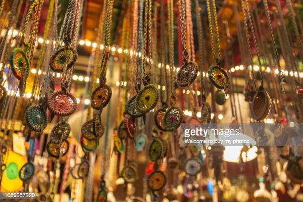 popular dreamcatchers sold in the street shop in kenting, taiwan - pendant stock pictures, royalty-free photos & images