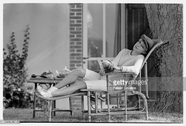 Popular French singer France Gall while on vacation in the seaside town of Honfleur She was resting prior to a concert tour