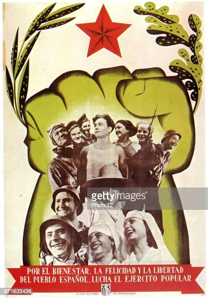 Popular Front Republican propaganda poster Spanish Civil War 1937