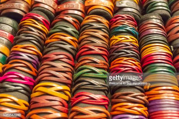 Popular Leather bracelets sold in the street shop in Kenting, Taiwan