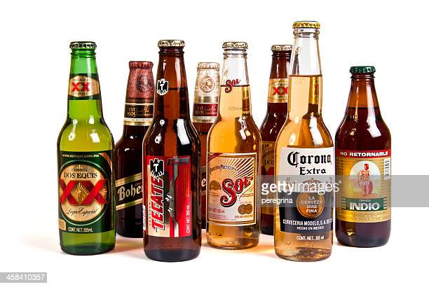 popular mexican beers - mexican beer stock pictures, royalty-free photos & images