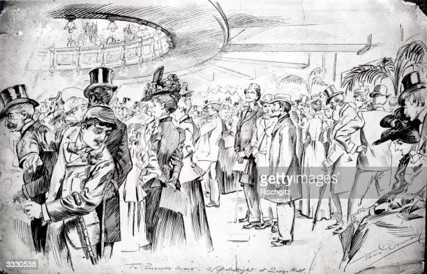 A popular nightwith a large crowd at a Promenade Concert at Queen's Hall London Original Artist Thomas Downey