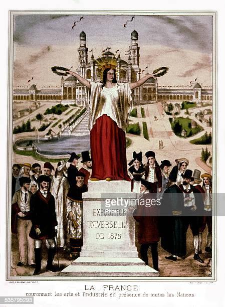 Popular print 1878 World exhibition in Paris France Paris Musée Carnavalet