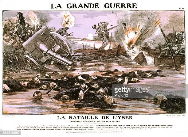 The Battle of the Yser  France World War I