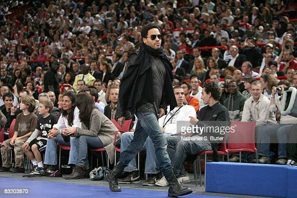 Popular recording artist Lenny Kravitz in attendance for the NBA preseason game between the New Jersey Nets and the Miami Heat as part of the 2008...