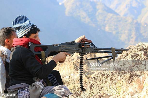 Popular Resistance forces fire back after Houthis' violation of ceasefire in Taiz Yemen on December 16 2015 Parties agreed to start ceasefire for 7...