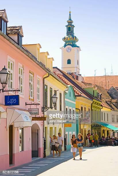 Popular Shopping Street in Zagreb
