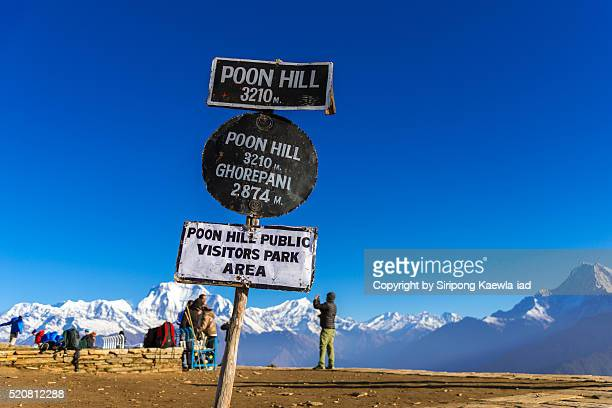 Popular sign at the Poon Hill summit point