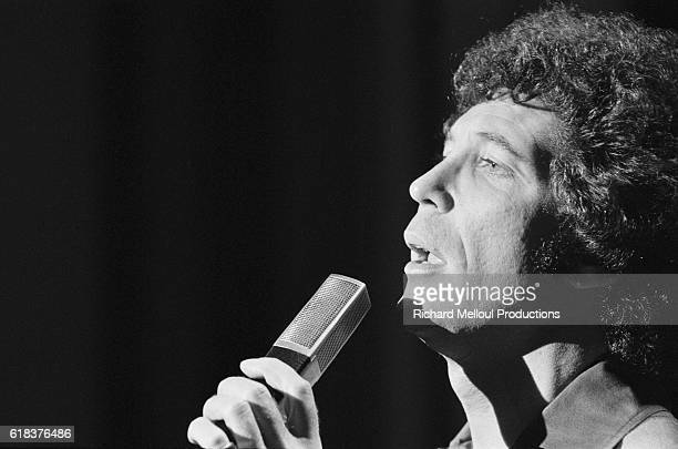 Popular singer Tom Jones performs on French television show Systeme 2 hosted by Guy Lux.