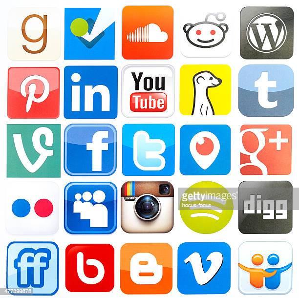 Iconos de redes sociales más populares