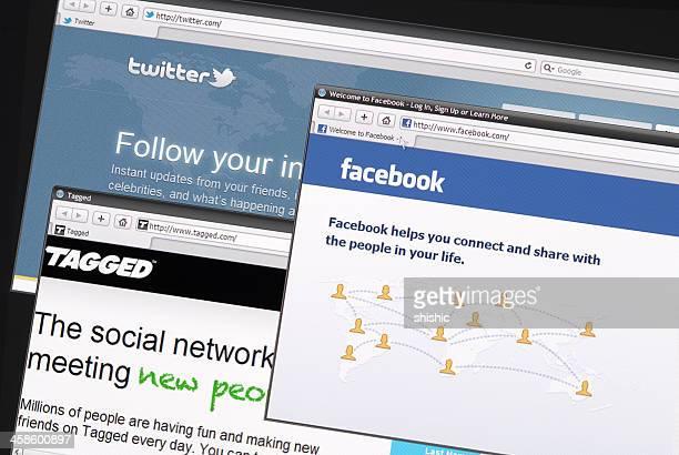 Popular social networks on internet