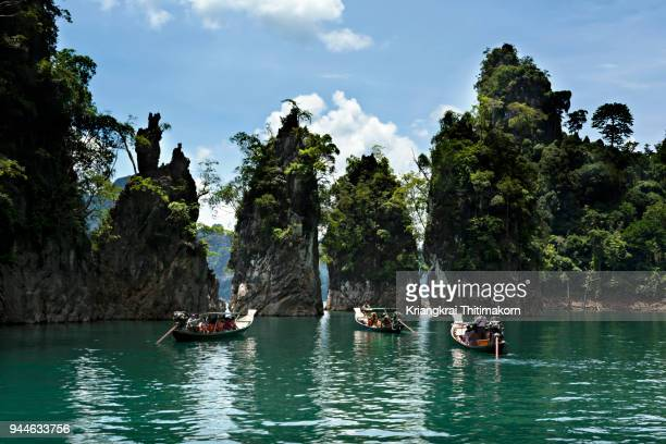 a popular spot - guilin thailand - at khao soi national park. - kao sok national park stock pictures, royalty-free photos & images