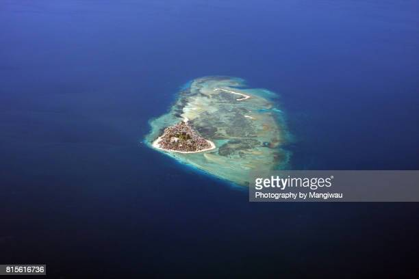 populated island - makassar stock pictures, royalty-free photos & images