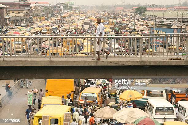 A populer busy market one of the biggest market in Lagos Nigeria March 13 2008