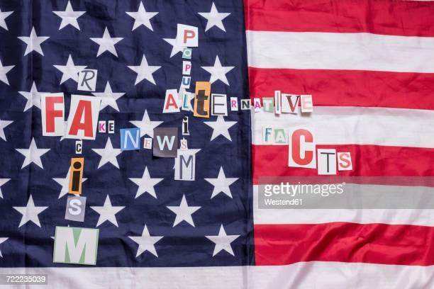 Populist words on US flag