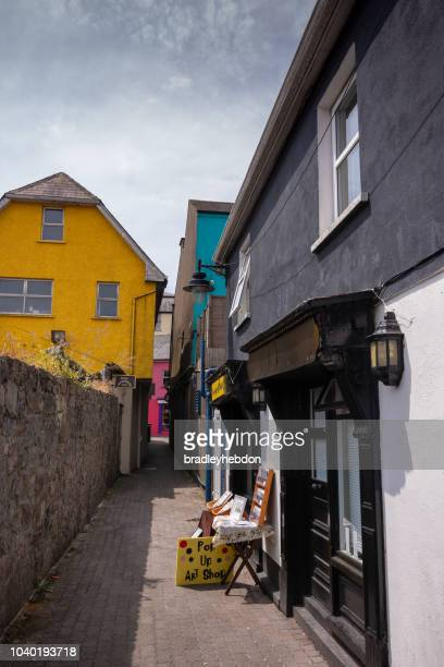 Pop-up art shop in the colorful streets of Kinsale, Ireland