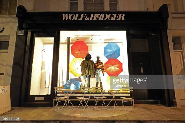 A popup event by New York based designer and artist Romeo Hunte at Wolfe Badger in Westbourne Grove on February 16 2018 in London England