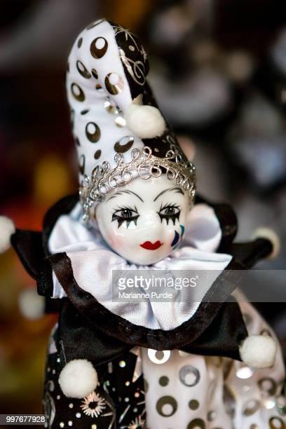 a porcelain clown - porcelain stock photos and pictures