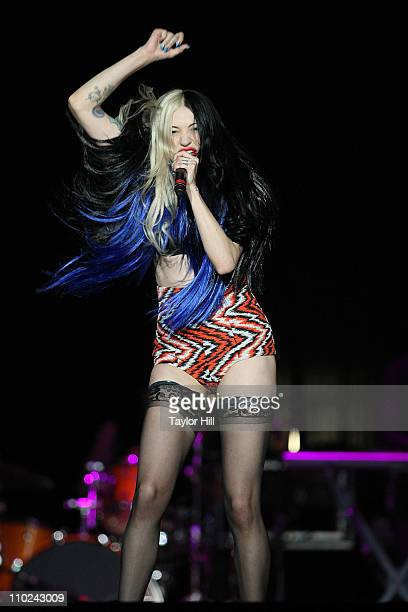 Porcelain performs during the I Am Still Music 2011 tour opener at the Dunkin' Donuts Center on March 16 2011 in Providence Rhode Island