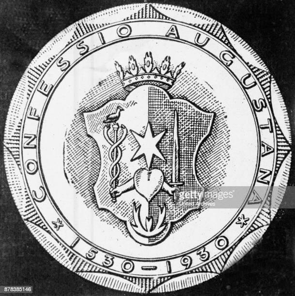 Porcellain badge to the 400th anniversary of the Confessio Augustana 1930