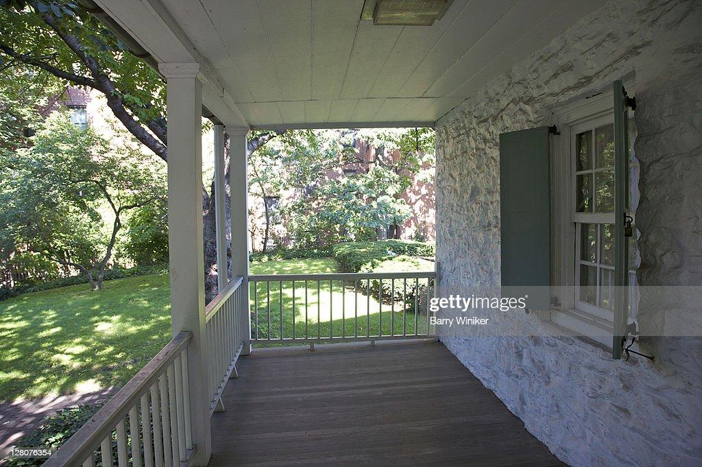 Porch Built 1784 Dutch Colonial Style Dyckman Farmhouse Museum