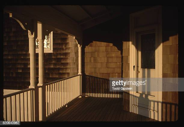 porch of post office on block island - gipstein stock pictures, royalty-free photos & images