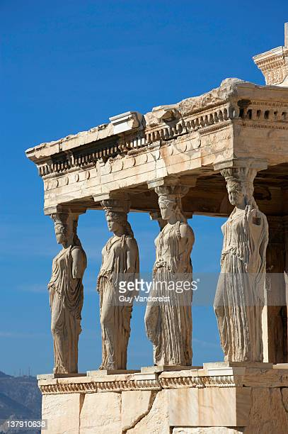 Porch of the Caryatids on the Acropolis in Athens.