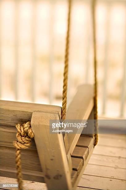 Porch swing, Holden Beach, North Carolina