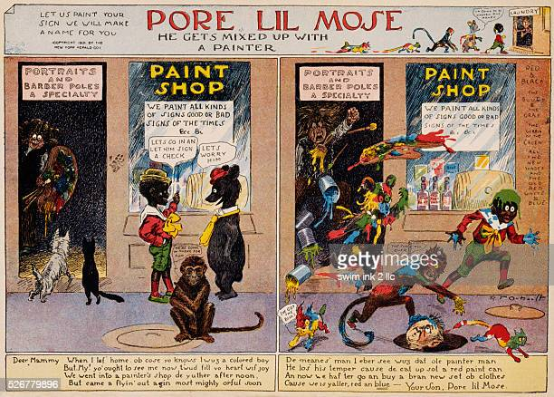 Pore Lil'Mose He Gets Mixed Up with a Painter Cartoon by Richard Felton Outcault