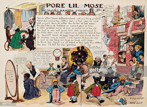 Pore Lil'Mose He Visits Baxter Street Cartoon by Richard Felton Outcault