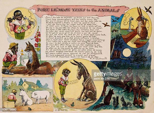 Pore Lil'Mose Talks to the Animals Cartoon by Richard Felton Outcault