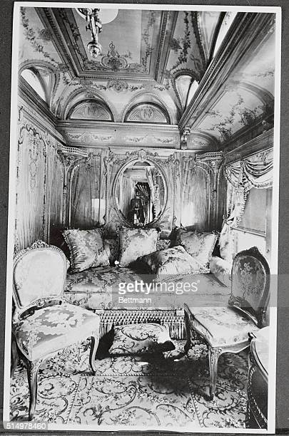 Porfirio Diaz Dictator of Mexico occupied this splendid stateroom aboard his private car by Pullman in 1898