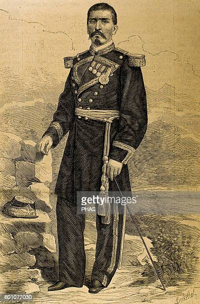 Porfirio Diaz Mexican soldier and politician Portrait Engraving by Paris 19th century