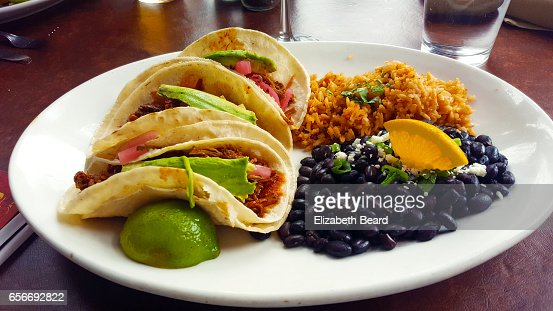 Pork and avocado tacos, Bisbee, Arizona