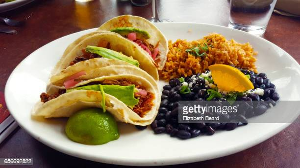 Pork and avocado tacos, Bisbee, Arizona
