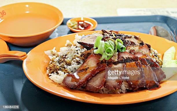 Pork and duck with rice
