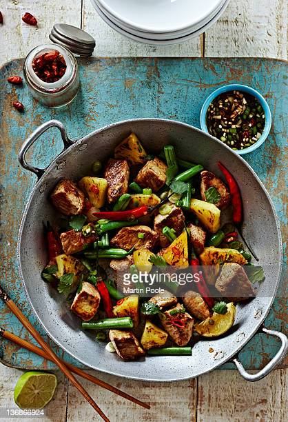 pork and pineapple stir fry with chilli dressing